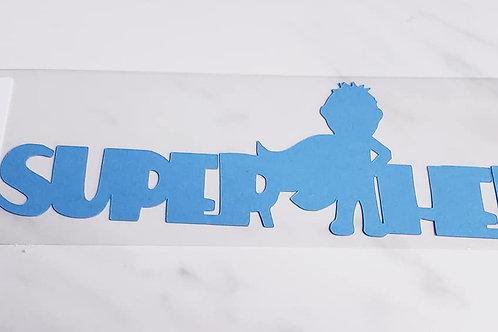 Super Hero Scrapbook Deluxe Die Cut