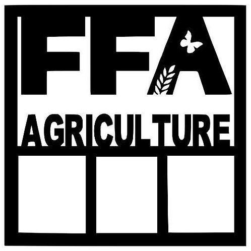 FFA Agriculture Scrapbook Overlay