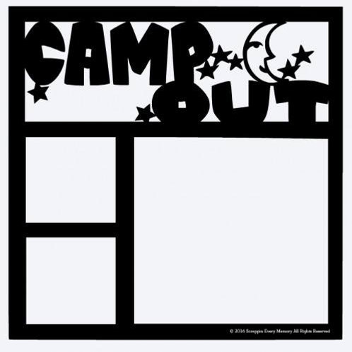 Camp Out Scrapbook Overlay