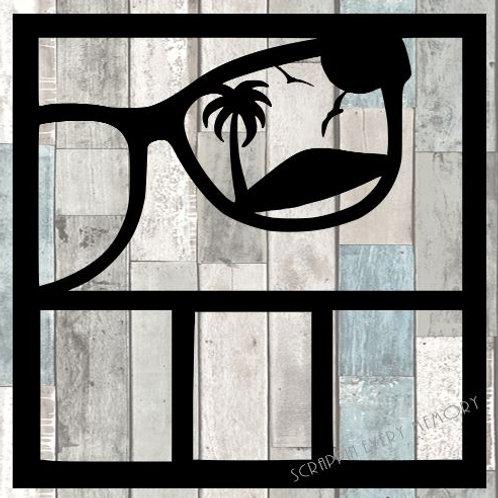 Beach Sunglasses Scrapbook Overlay