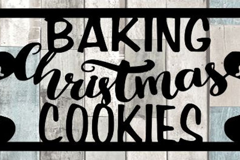 Baking Christmas Cookies Scrapbook Title