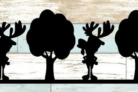 Moose & Trees Scrapbook Border