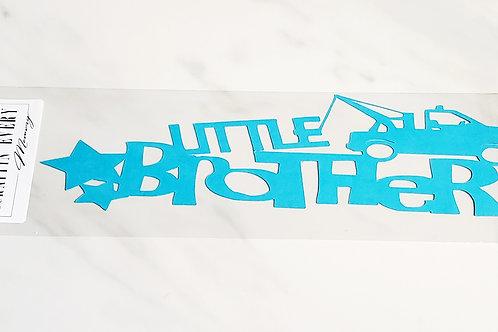 Little Brother Scrapbook Deluxe Die Cut