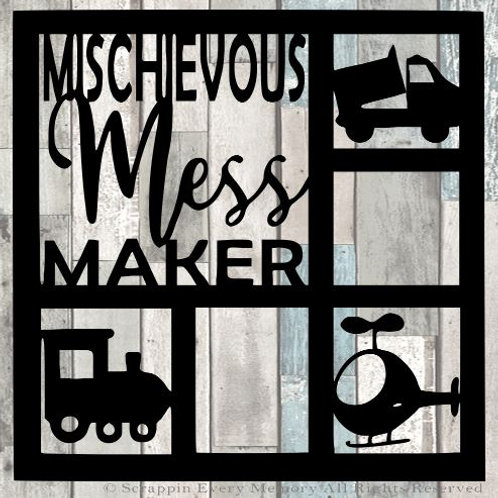 Mischievous Mess Maker Scrapbook Overlay