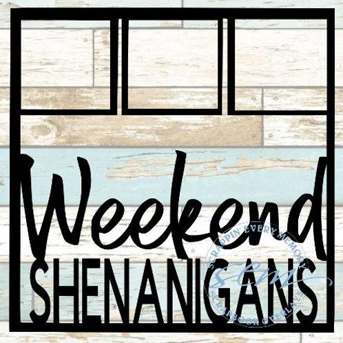 Weekend Shenanigans Scrapbook Overlay