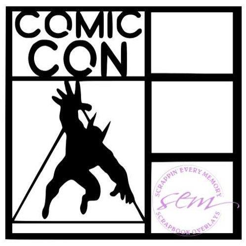 Comic Con Scrapbook Overlay