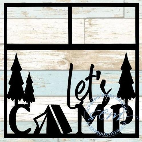 Let's Camp Scrapbook Overlay