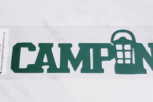Camping Scrapbook Deluxe Die Cut