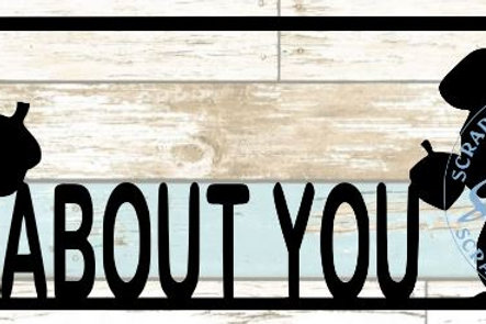 Nuts About You Scrapbook Title