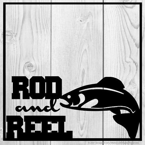 Rod And Reel Scrapbook Overlay