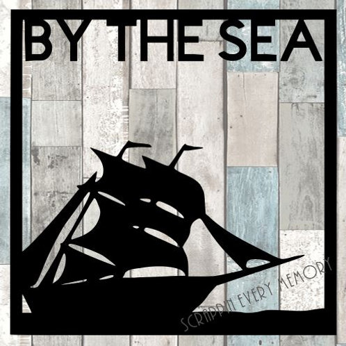 By The Sea Scrapbook Overlay