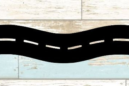 Road Scrapbook Border
