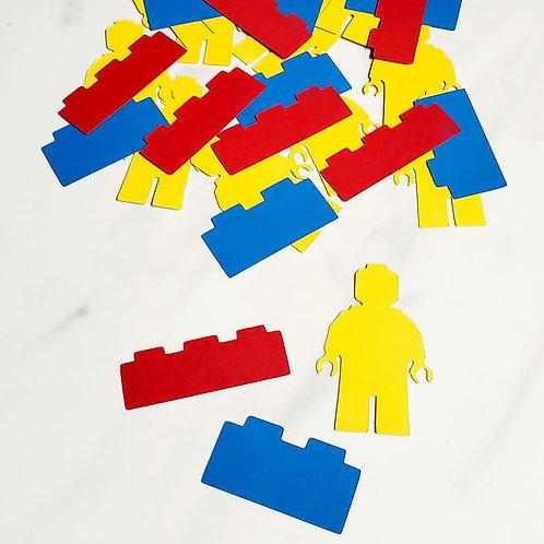 Legos Scrapbook Page Confetti