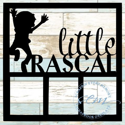 Little Rascal Scrapbook Overlay