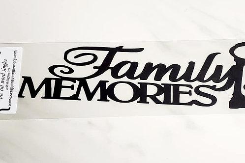 Family Memories Scrapbook Deluxe Die Cut