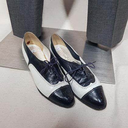 Schoenen blauw/wit vintage Manfield 37