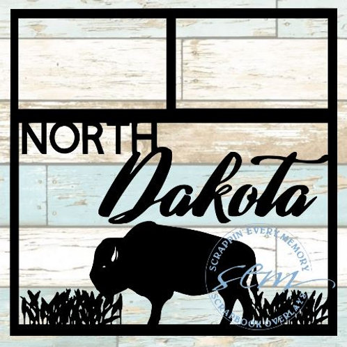 North Dakota Scrapbook Overlay