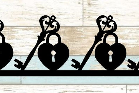 Lock & Key Scrapbook Border