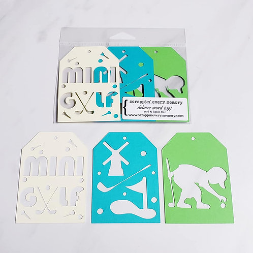 Mini Golf Deluxe Word Tags