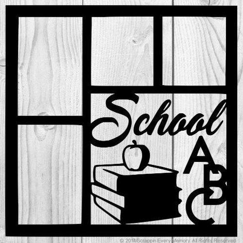 School ABC Scrapbook Overlay
