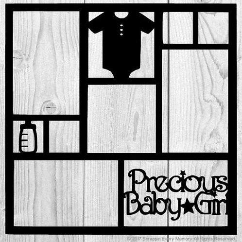Precious Baby Girl Scrapbook Overlay