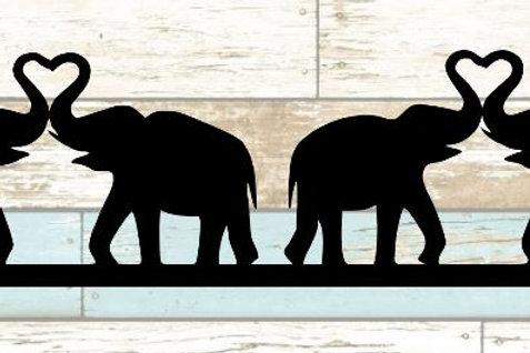 Elephants Scrapbook Border