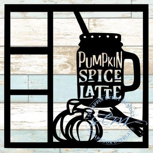Pumpkin Spice Latte Scrapbook Overlay