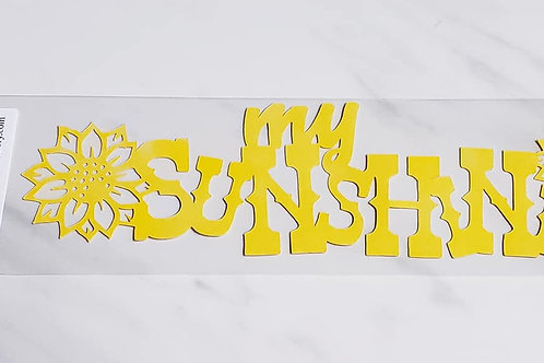 My Sunshine Scrapbook Deluxe Die Cut