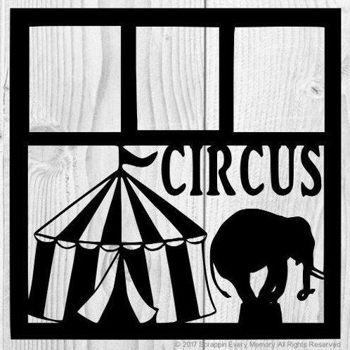 Circus Scrapbook Overlay