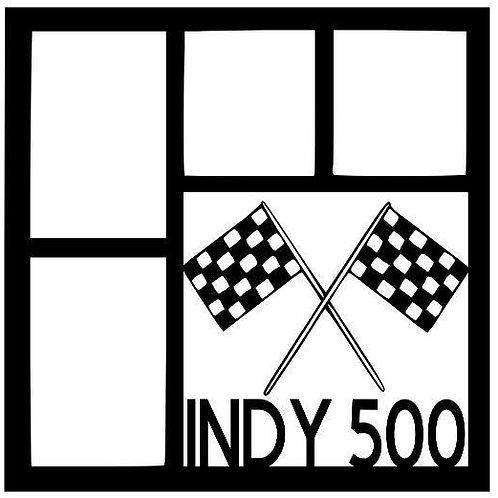 Indy 500 Scrapbook Overlay