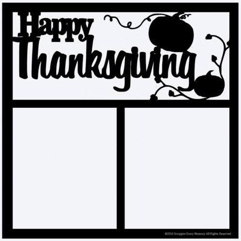 Happy Thanksgiving Scrapbook Overlay