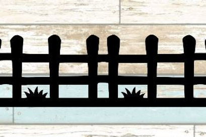 Fence Scrapbook Border