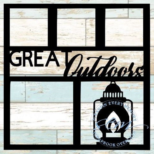 Great Outdoors Scrapbook Overlay
