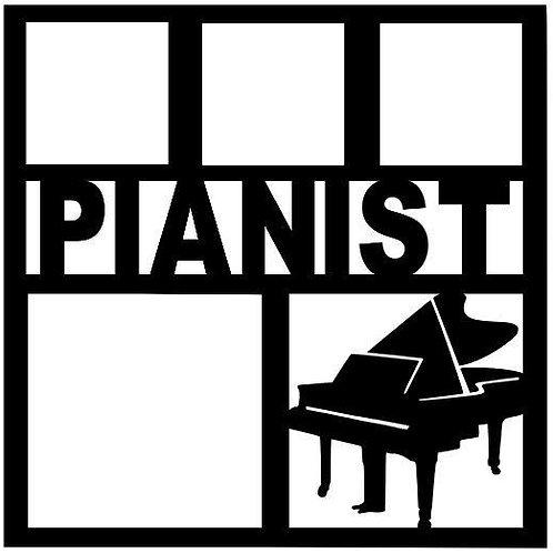 Pianist Scrapbook Overlay