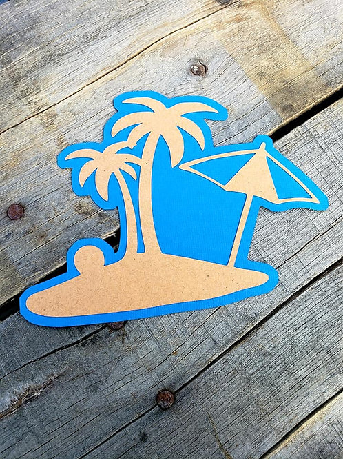 Beach Scene Paper Piecing Die Cut