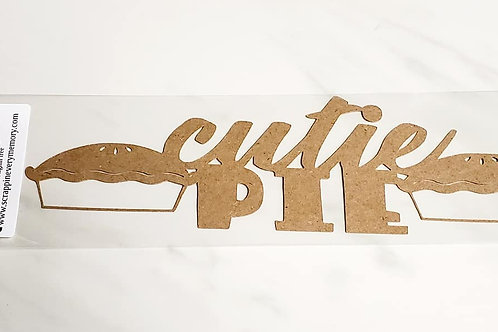 Cutie Pie Scrapbook Deluxe Die Cut