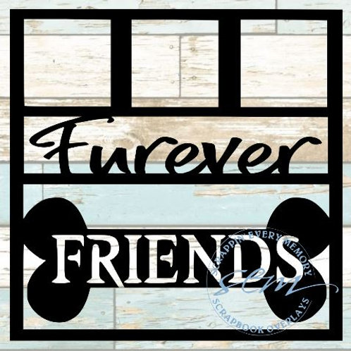 Furever Friends Scrapbook Overlay