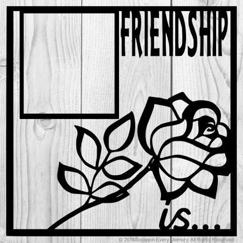 Friendship Is Scrapbook Overlay