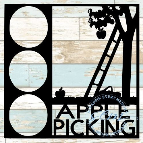 Apple Picking Scrapbook Overlay
