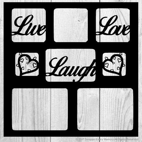 Live Love Laugh Scrapbook Overlay