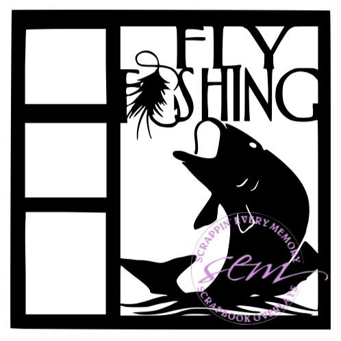 Fly Fishing Scrapbook Overlay