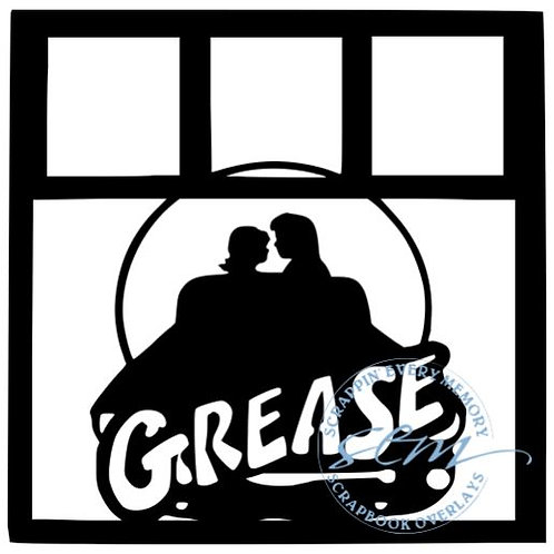 Grease Scrapbook Overlay