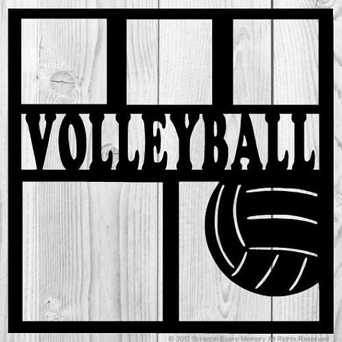 Volleyball Scrapbook Overlay