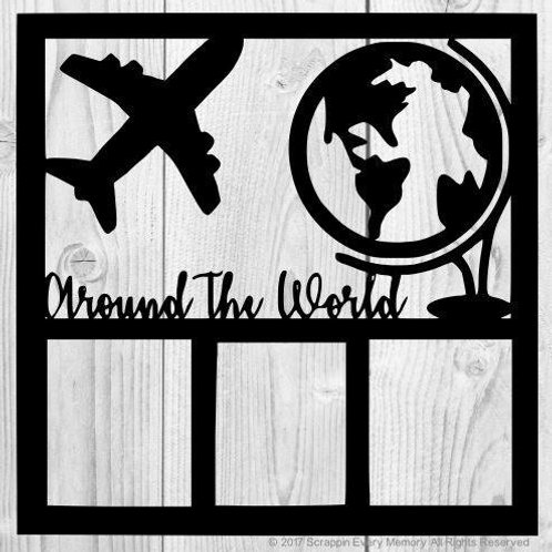 Around The World Scrapbook Overlay