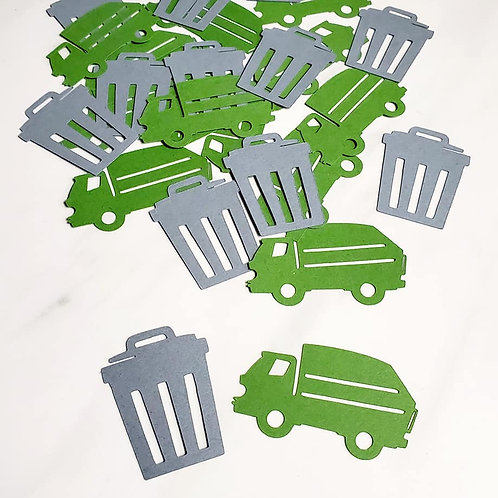 Garbage Truck and Trash Scrapbook Page Confetti