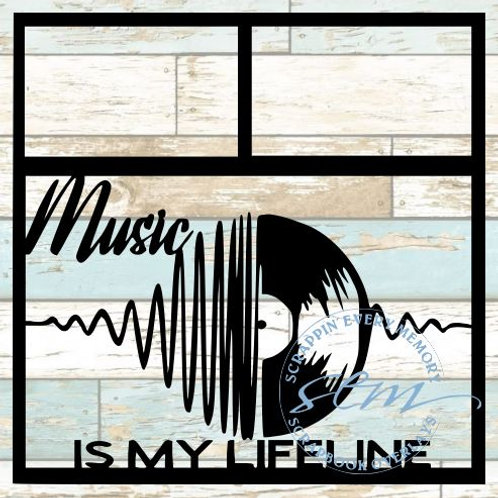 Music Is My Lifeline Scrapbook Overlay