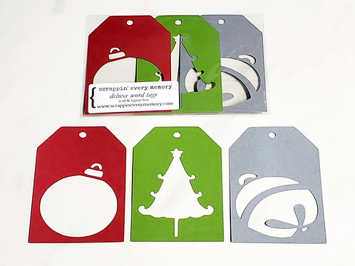 Christmas Deluxe Word Tags