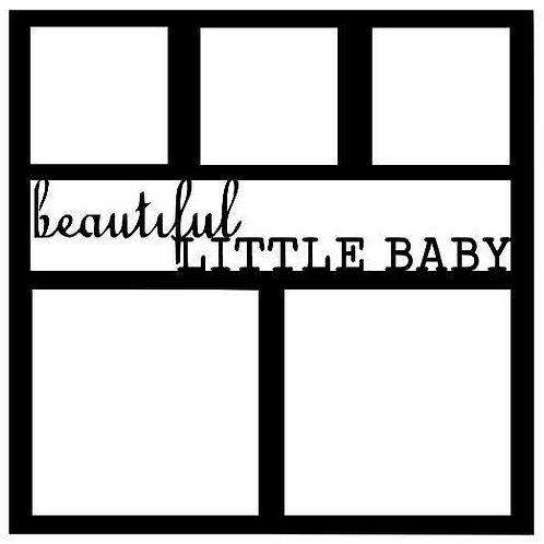Beautiful Little Baby Scrapbook Overlay
