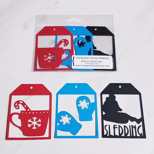 Sledding Deluxe Word Tags