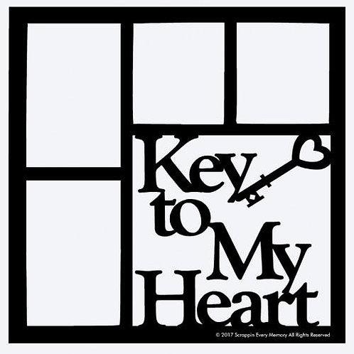 Key To My Heart Scrapbook Overlay